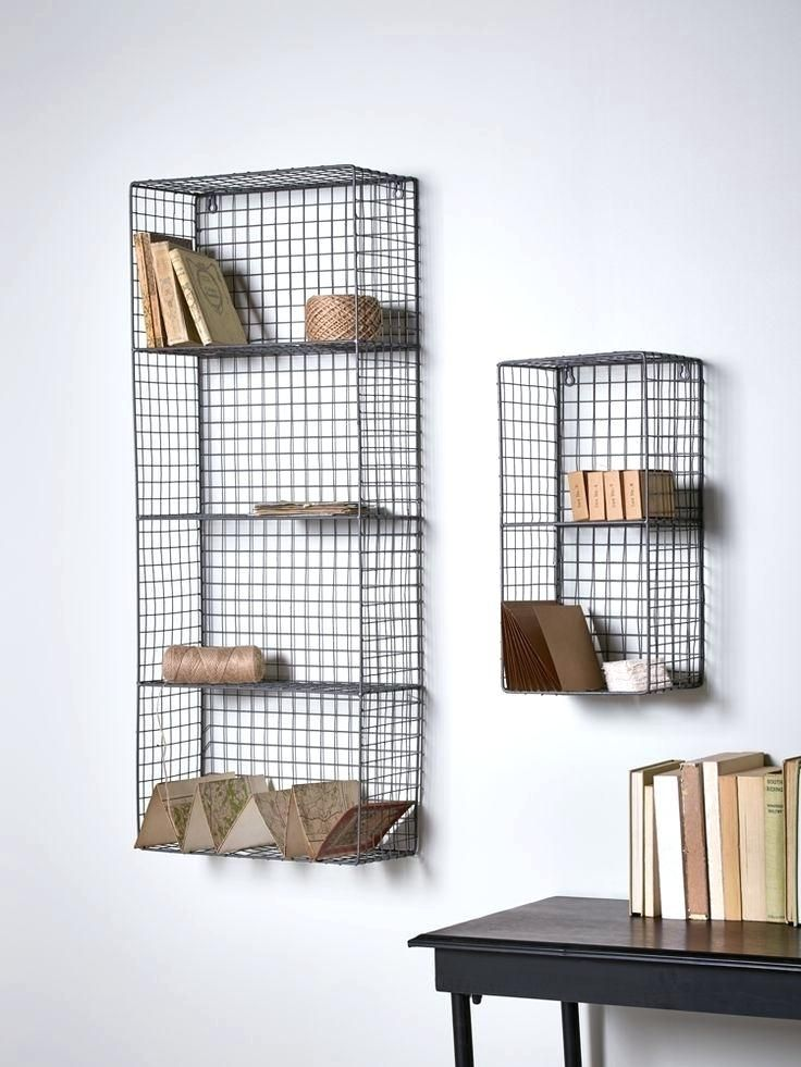 Wire Wall Storage Rack Excellent Amazing Best Shelving Ideas On Shelves Baskets Pertaining To Mounted Racks Por Hanging