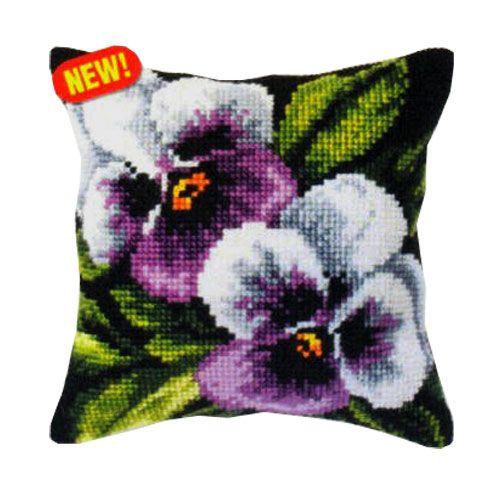 Гоблен възглавница Орхидея 9244 Теменуги