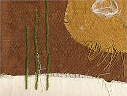 Fiber collage: Assemblage Collage, Fabrics Yarns, Fabrics Assemblages, Assemblages Collage, Fabrics Collage Assemblages, Collage Ideas, Art Class, Scrap Fabrics, Fabrics Art