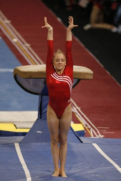 Nastia Liukin Photos - Gymnast Nastia Liukin of the United States nails her landing on the vault during the 2008 Pacific Rim Gymnastics Championships March 29, 2008 at the San Jose McEnery Convention Center in San Jose, California. - Pacific Rim Championships Day 2