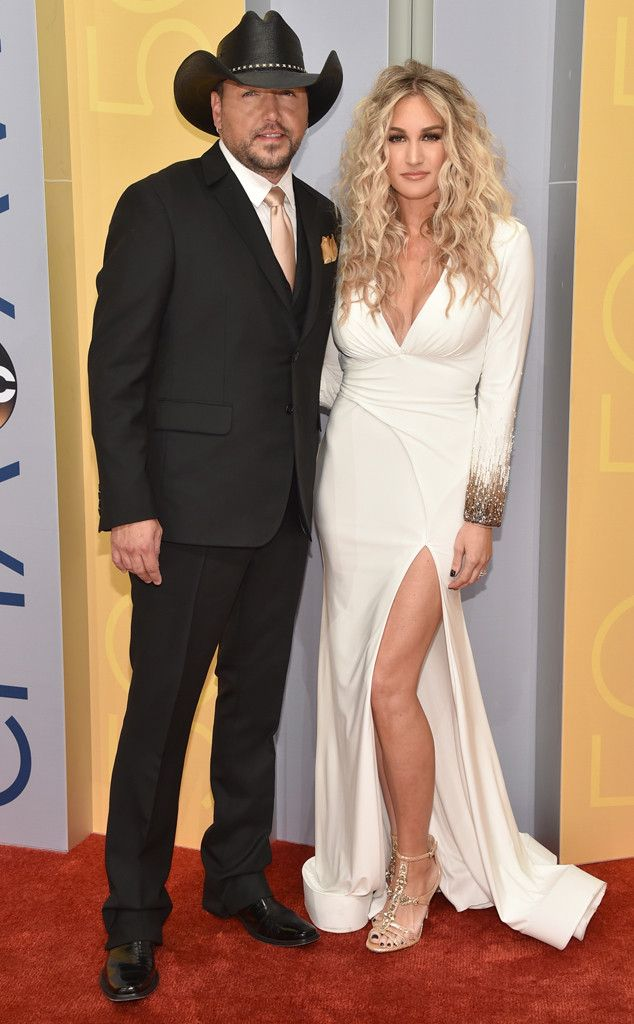 """Jason Aldean & Brittany Kerr from CMA Awards 2016 Red Carpet Arrivals Yeehaw! The """"Burnin' It Down"""" singer and his wife step out in Nashville for the star-studded evening."""