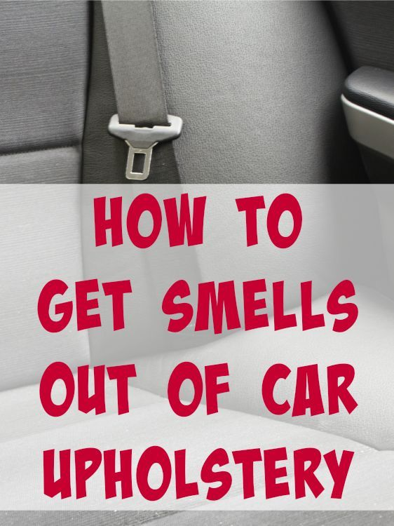 how to get tid of smells out of cars