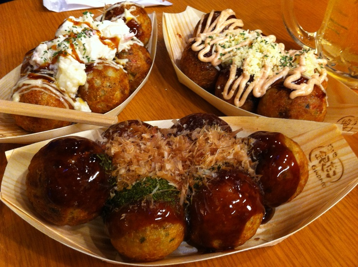 Takoyaki, a snack with octopus in it, is very popular in the Kansai area.