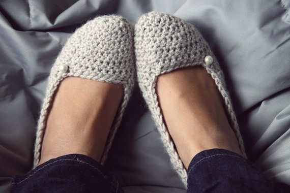 Soft Crochet Slippers in Linen, $20: Knits Crochet, Crochet Projects, Crochet Shoes, Crochet Slippers, Knits Slippers, Front Doors, Crochet House, Crochet Knits, Soft Crochet