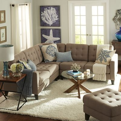 Build Your Own Nyle Putty Tan Sectional Collection : build your own couch sectionals - Sectionals, Sofas & Couches