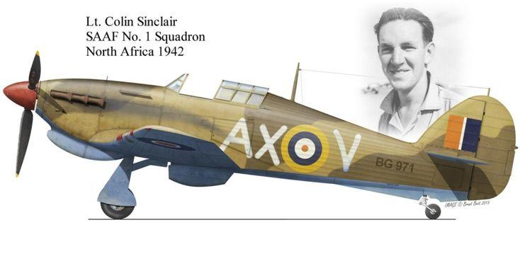 Hawker Hurricane MK IIb flown by Colin Sinclair ,SAAF No 1 SQ N.Africa 1942
