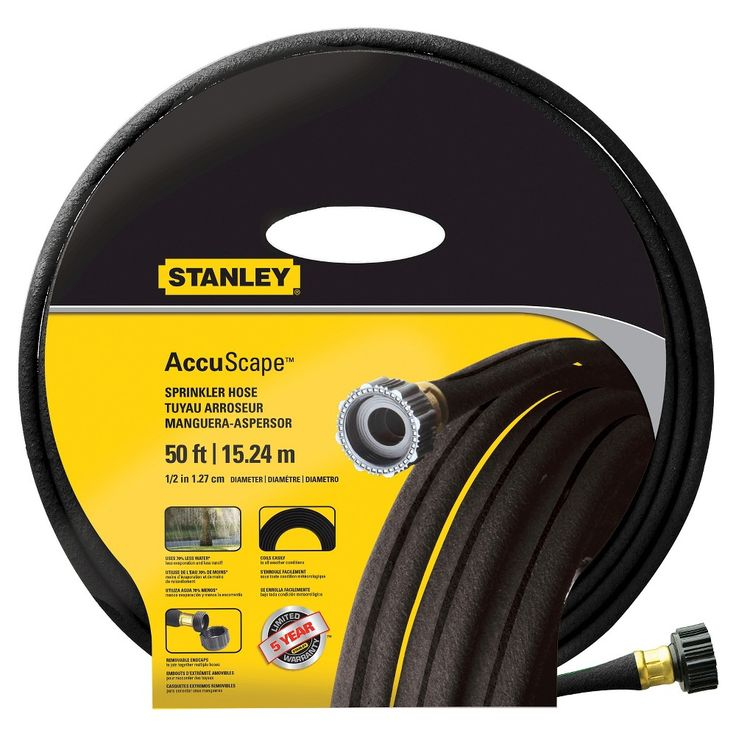 Stanley Accuscape 50' Sprinkler Hose, Black & Yellow