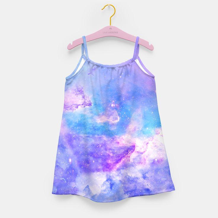 Purple galaxy Sukienka dziewczęca, Live Heroes
