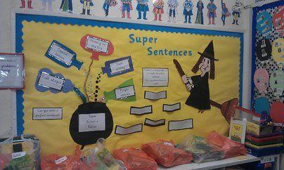 Super Sentences Display, classroom display, class display, literacy, english, writing, write, sentences, Early Years (EYFS),KS1 & KS2 Primary Resources
