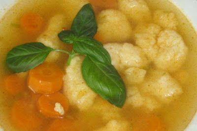 Krupicové halušky do polievky