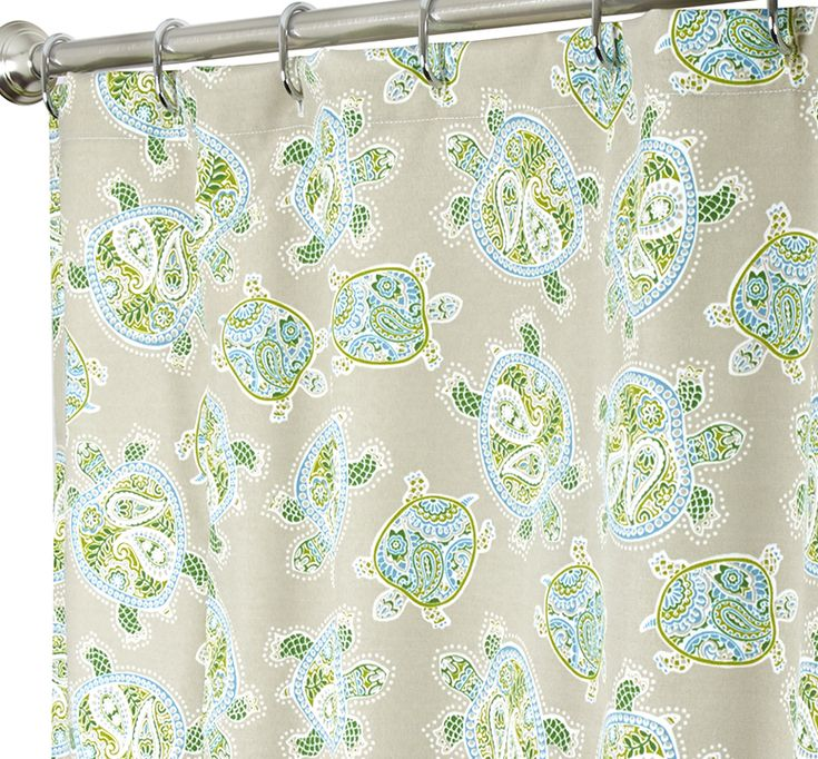 Nautical Shower Curtains Turtle Polyester. Comes in various sizes. Prices from: $99.00