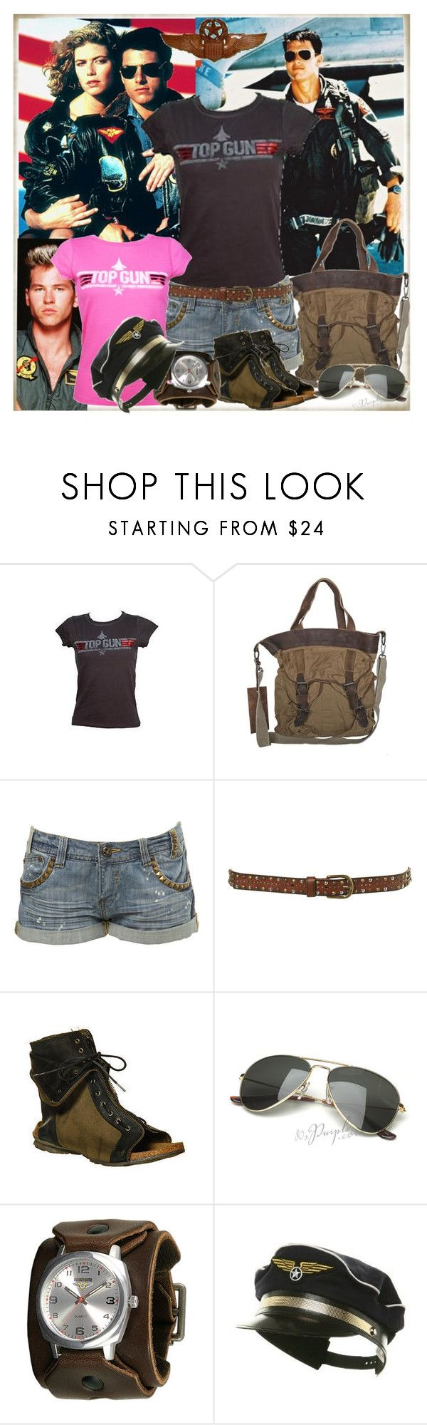 """""""top gun"""" by dinemisim ❤ liked on Polyvore featuring Edition, AllSaints, Miss Selfridge, Topshop, Bronx, Vintage Collection, Command and denim shorts"""
