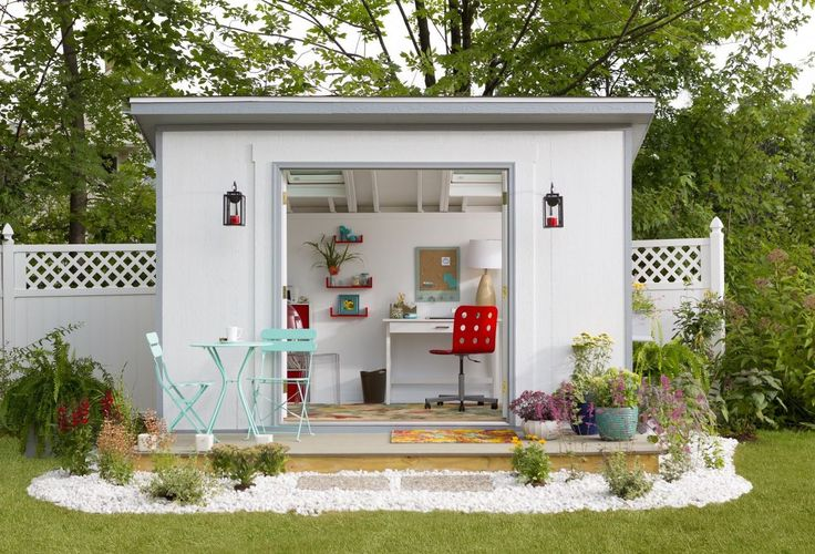 "Referred to as ""The Office"" this ""she shed"" offers all the trappings of an ideal work environment."