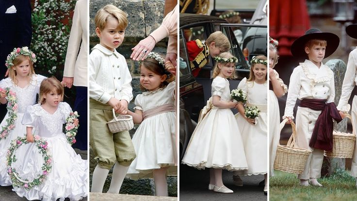 All the times the royals have acted as bridesmaids and pageboys