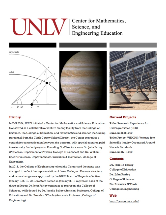 Page  Of The Unlv Department Of Educational Psychology  Higher