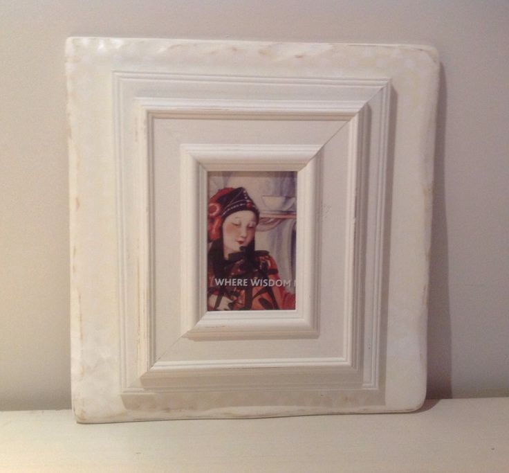 Stacked, distressed and painted photo frame by Touchwood Creations