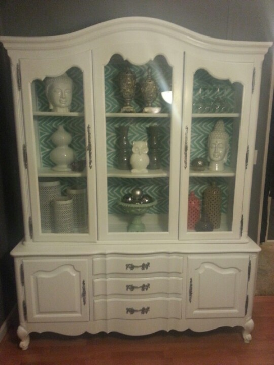 Refinished Hutch With Shelf Liner Background I Will Be