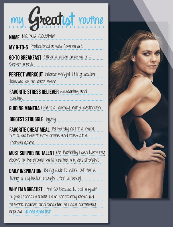 Healthier Choices: Natalie Coughlin Eyes the Prize