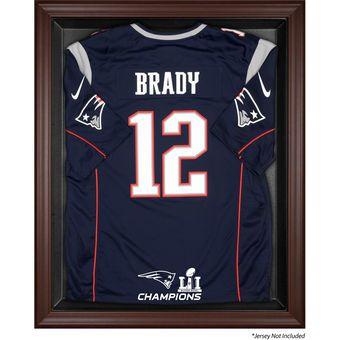 New England Patriots Fanatics Authentic Super Bowl LI Champions Black Framed Jersey Logo Display Case