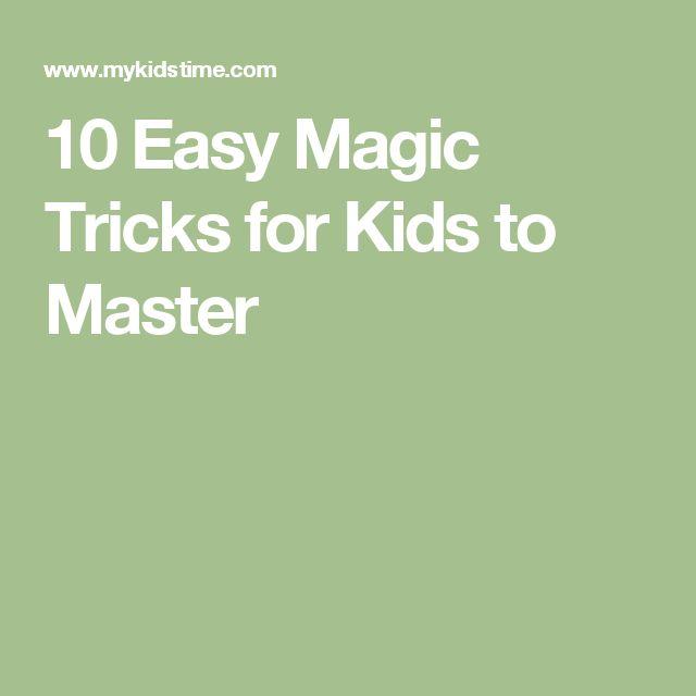 10 Easy Magic Tricks for Kids to Master
