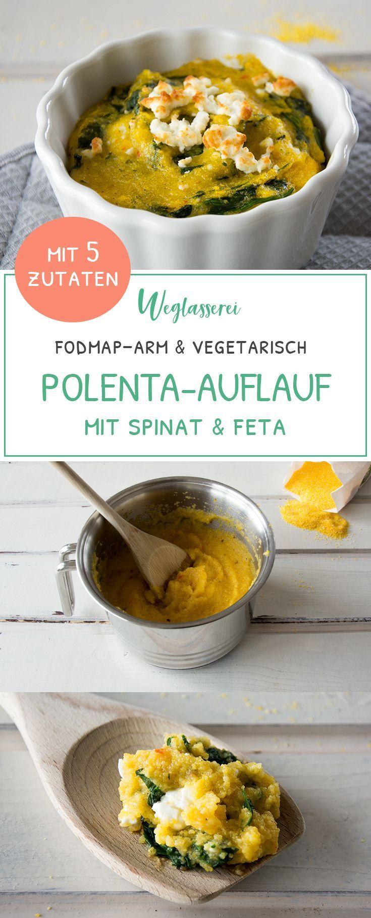 Polentaauflauf mit Spinat und Feta