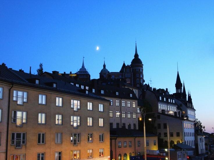 Sunset over Södermalm, Stockholm, 5/27/2012