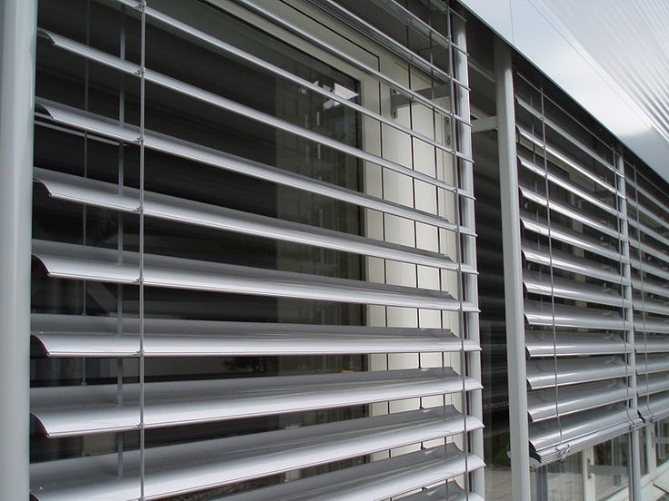 Photovoltaic Venetian Blinds: The louvers are covered with solar cells and collect energy from the sun and transform that energy into electricity