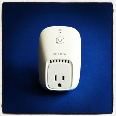 No more heading out the door and wondering if you remembered to turn off the coffeemaker. Plug any electronic device into the switch, and power it on or off using the WeMo app on your iPhone.