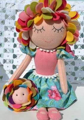 Canteiro de Ideias: Tutorial Boneca Florinda.