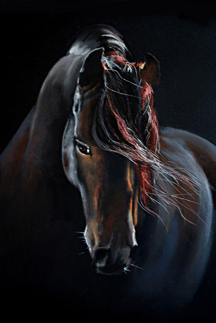 horse, soft pastel