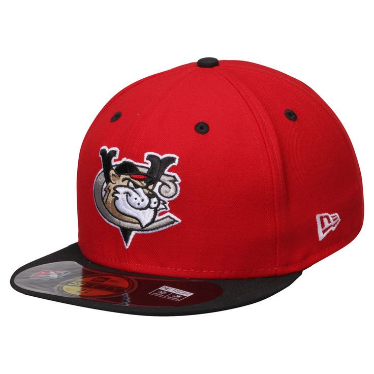 Tri-City ValleyCats New Era Alternate 1 Authentic 59FIFTY Fitted Hat - Red/Black - $22.99