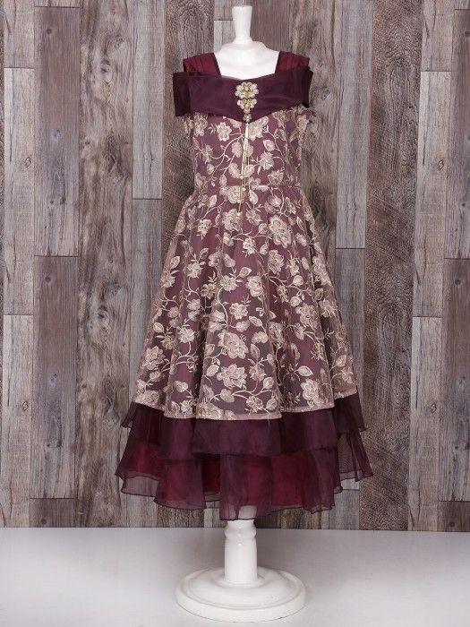 0ae69ea04 Purple Net Designer girls Gown