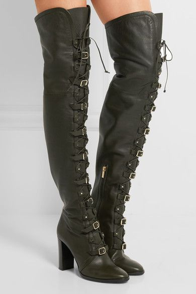 Jimmy Choo | Maloy leather over-the-knee boots | NET-A-PORTER.COM