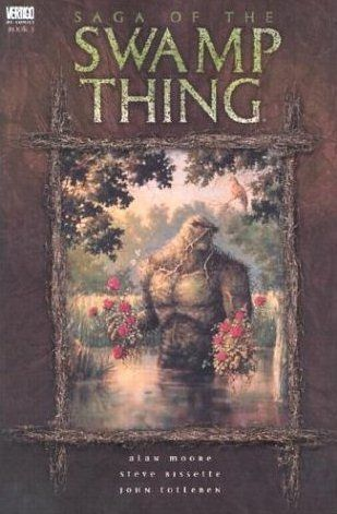 Swamp Thing, Vol. 1: Saga of the Swamp Thing by Alan Moore and Stephen Bissette  Rereading this for the first time in about 10 years. Still so so good!!!