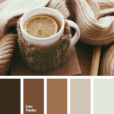 A stunning palette has a soothing effect. Brown is the color of soil and it is known that it symbolizes reliability, safety, home. Soft changing of brown s