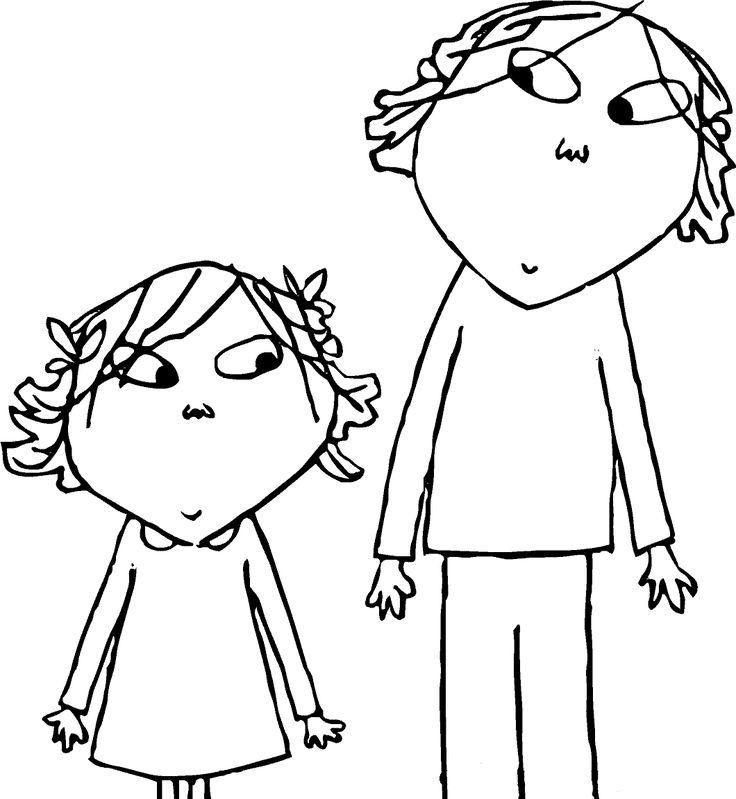 Desenhos de Charlie e Lola para pintar, colorir, imprimir! Moldes e riscos de Charlie e Lola - Espaço Educar desenhos para colorir