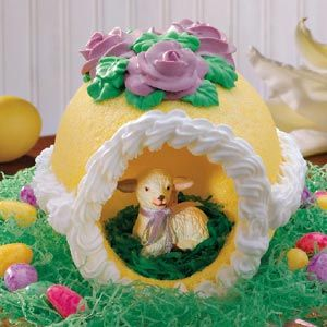 I probably lack the skill to pull this off - but my grandmother used to find the most awesome sugar sculpture eggs for easter and this reminds me of them. Very cool!    #tasteofhome #easterdinner