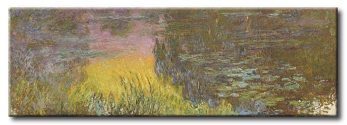 MU_MN2087 _ t_Monet _ The Water lillies _ Setting sun / Cuadro Arte Famoso, lirios de agua con sol poniente