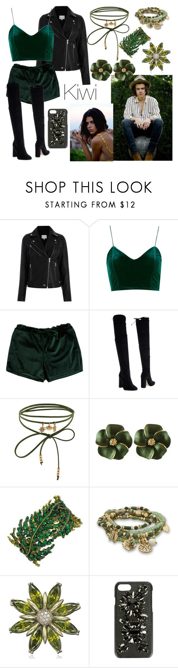 """Kiwi // H.A.R.R.Y S.T.Y.L.E.S"" by nerdyhesc ❤ liked on Polyvore featuring Bianca Di, Accessorize, BillyTheTree, Suzy Levian and Dolce&Gabbana"