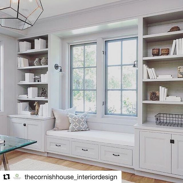 Display unit and window seating inspiration #inspire #bookcasedublin #windowseatireland #windowseat #bespokefurniture #Repost @thecornishhouse_interiordesign (@get_repost)  Great interior design isn't merely about colour schemes fabrics and spacial planning. Ultimately it's about beautiful but functional internal architecture #interiordesign #interior #architecture #design #homedecor #homeinspo #regram @millhousedesignco #coastalstyle #coastaldecor #cleanliving