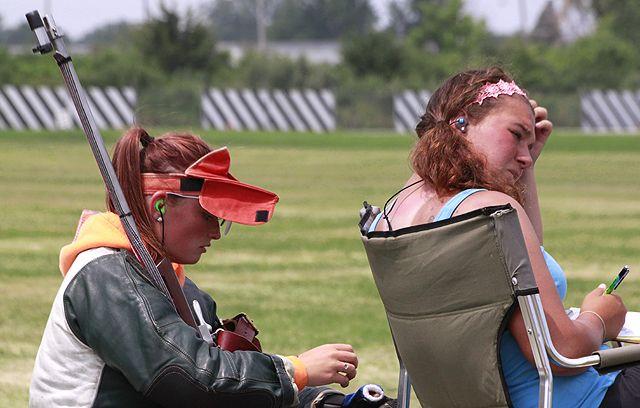 Ladies taking a break at the 2014 NRA Long Range Rifle Championships #NRA #rifle #ohio