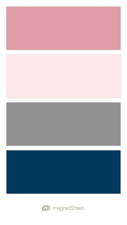 Blush Cream Rose Clic Gray And Navy Wedding Color Palette Custom Created At Magnetstreet About Weddings In 2019 Colors
