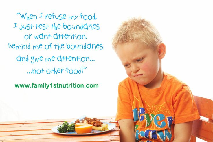 The most common mistake parents make is to give another food when a child refuse the food in front of him