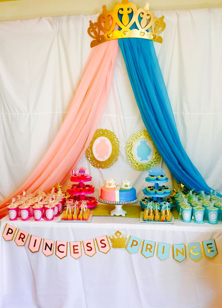 Gender Reveal Princess or Prince Theme
