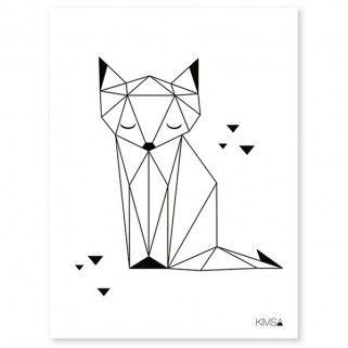 Affiche Renard Origami