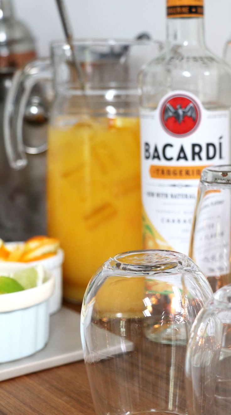 Bacardí Tango will be a hit at your next summer party! Ingredients: 1 part Bacardí Tangerine rum / 3 parts orange juice [sp]