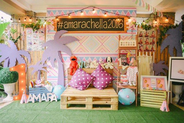 Amara S Coachella Themed Party 1st Birthday Festival