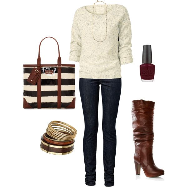 Casual Outfit: Woman Fashion, Fall Style, Cozy Outfits, Fashionista Trends, Fall Outfits, Winter Outfits, Brown Boots, Casual Outfits, Lace Dresses