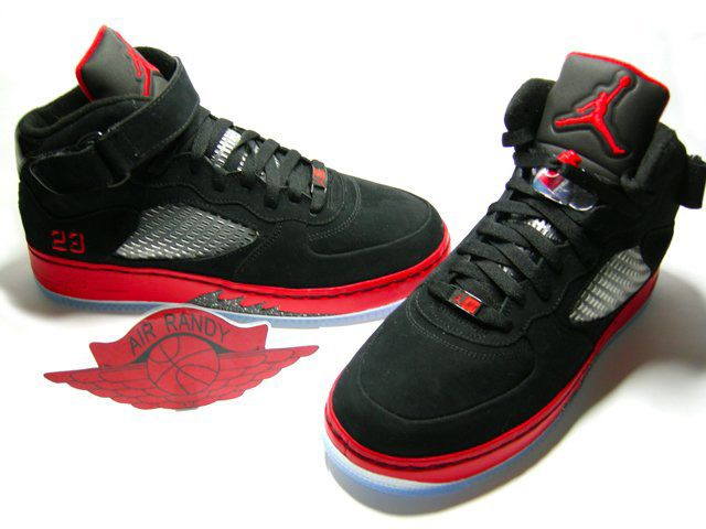 Air Jordan 5 X Fusion Af1 Forestiers Noir / Rouge professionnel à vendre sneakernews libre d'expédition limité XiGQQAAyg