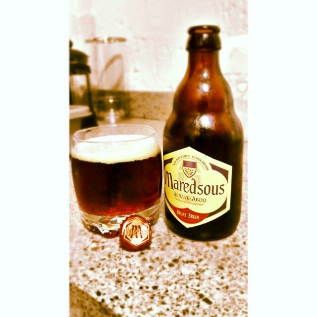 #CRAFTbeer Maredsous Bruin Ale. Terrible beer from Uruguay.  Awesome shaped small beer bottle. But, seriously give this one a skip.
